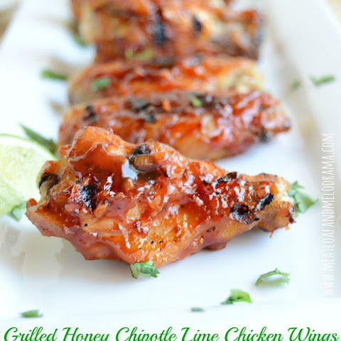 Grilled Honey Chipotle Lime Chicken Wings