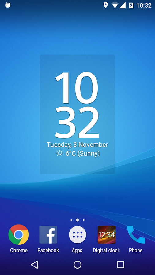 Digital Clock Widget Xperia Screenshot 1