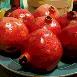 Pomegranites by Karen McGregor - Food & Drink Fruits & Vegetables