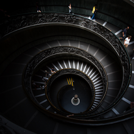 The Vatican staircase by Niroshan Muwanwella - Buildings & Architecture Other Interior ( vatican stairs )