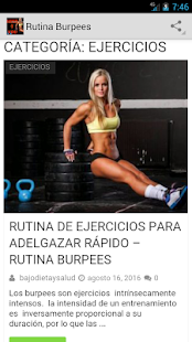 Rutina de Ejercicios Burpees - screenshot
