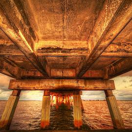 Causeway Bridge. Dunedin, Florida. by Edward Allen - Buildings & Architecture Bridges & Suspended Structures