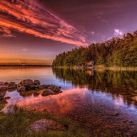 Tranquility by Bojan Bilas - Landscapes Sunsets & Sunrises ( tranquil, waterscape, sunset, landscape,  )