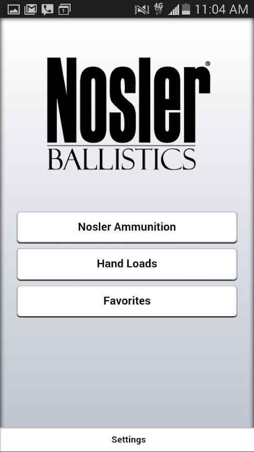 Nosler Ballistics 2.0 Screenshot