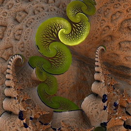 Snakepit by Rick Eskridge - Illustration Animals ( mb3d, fractal, twisted brush, abstract, animals )
