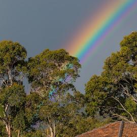 Rainbow by Ian Chase - Landscapes Weather ( sky, rainbow, daylight, sun, rain )