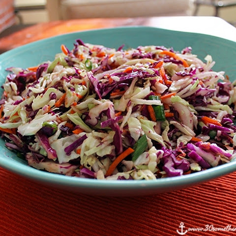 Pulled Chicken Sliders (in the Crockpot!) and Asian Slaw