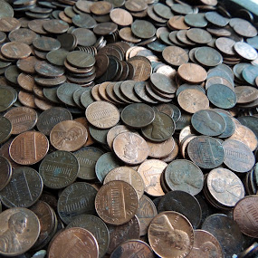 A Penny for Your Thoughts by Jamie Boyce - Artistic Objects Other Objects ( copper, change, pwccoins, pennies, money, penny, lincoln cents,  )