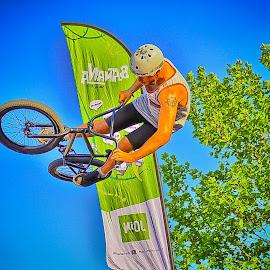 flying  by Dragan Rakocevic - Sports & Fitness Cycling