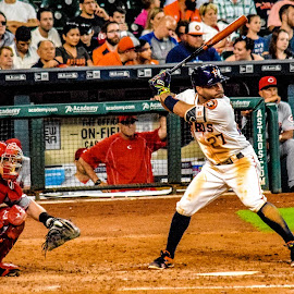Jose Altuve by Prentiss Findlay - Sports & Fitness Baseball ( major league baseball, altuve, baseball, jose altuve, houston astros )
