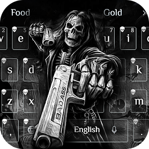 Death skull Gun Theme Keyboard For PC