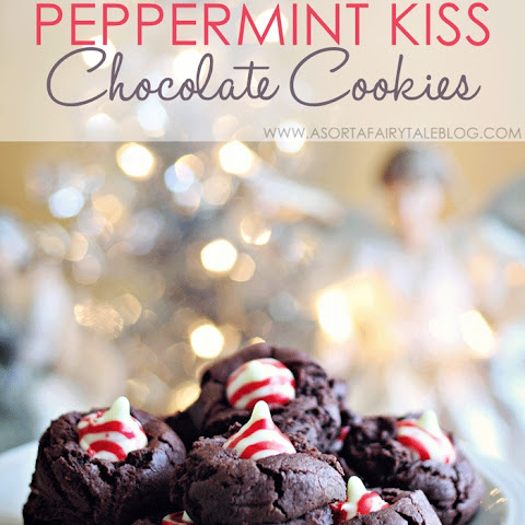 Holiday baking - Peppermint Kiss Chocolate Cookies