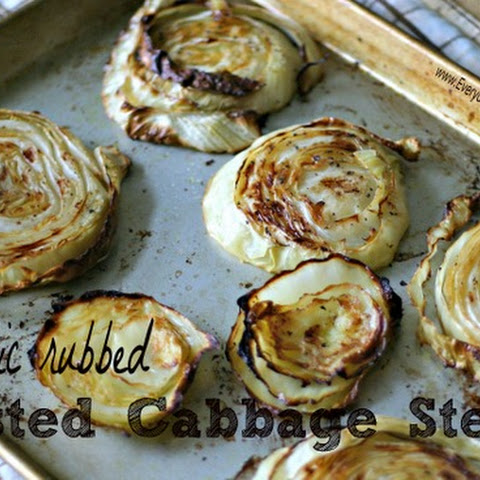 Garlic Rubbed Roasted Cabbage Steaks
