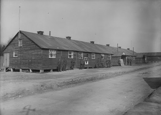 """Views of the YMCA at Bramshott Camp, 1914-1919."" Canada. Dept. of National Defence/Library and Archives Canada."