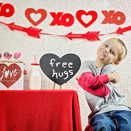 Free Hugs by Linda Smith - Babies & Children Child Portraits ( love, child, heart, male, valentine, boy,  )