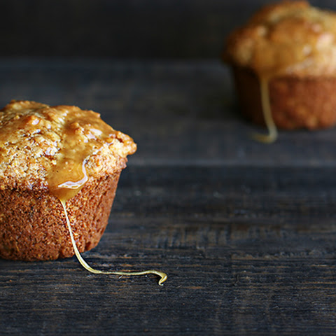 Recipe for Brown Butter Corn Muffins with honey caramel