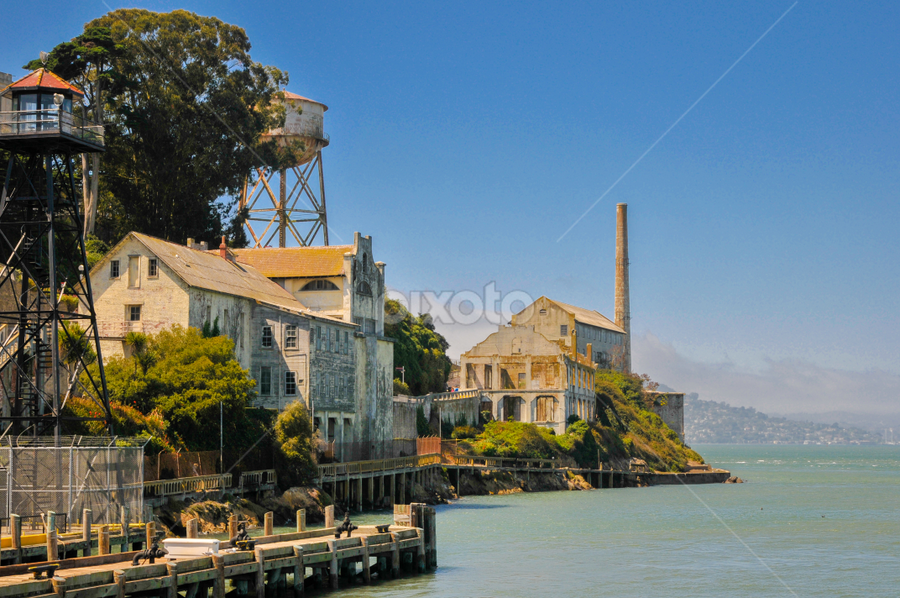 Docking Alcatraz by Kevin Pastores - Travel Locations Landmarks