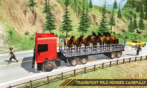 Horse Transport Truck Sim 19 -Rescue Thoroughbred screenshot 1