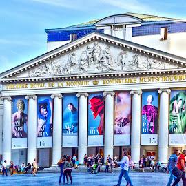 La Monnaie by Pravine Chester - Buildings & Architecture Public & Historical ( building, theatre, belgium, historical, architecture, la monnaie, brussels )