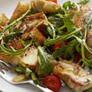 Seared Chicken with Artichoke Panzanella