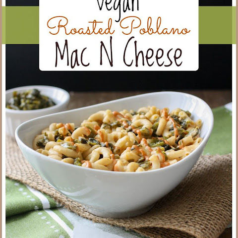 Baked Roasted Poblano Mac and Cheese with Creamy Sriracha Drizzle