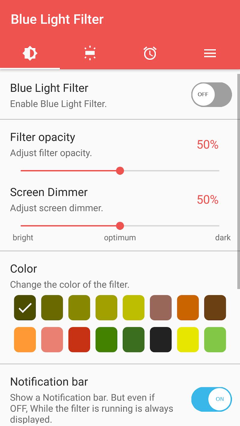 sFilter - Blue Light Filter Screenshot 0