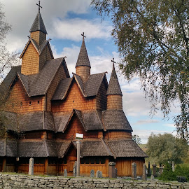 church by Rodrigo Ohara - Buildings & Architecture Statues & Monuments ( nature, church, landscape, gotic, norway )
