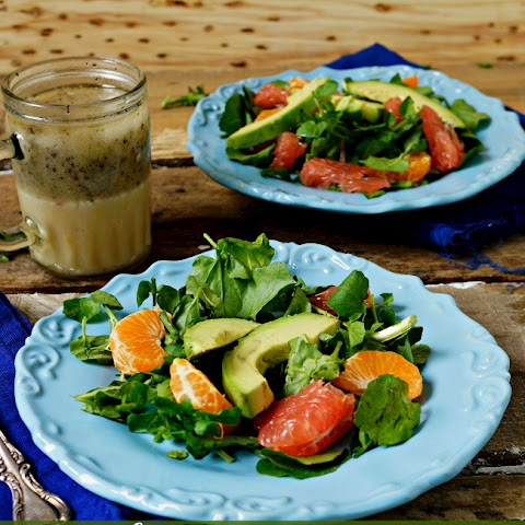 Paula Deen's Poppy Seed Salad Dressing and Watercress Salad