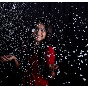 Snow Fall by Nanda Kumar - People Fashion ( fashion, female, snow, people, portrait,  )
