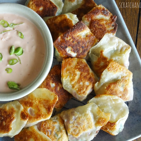 Reuben Wontons with homemade Russian Dressing