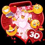 3D Valentine Love Emoji Theme Icon