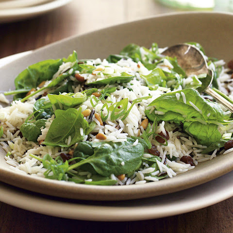 Wild Rice and Spinach Salad with Orange Vinaigrette