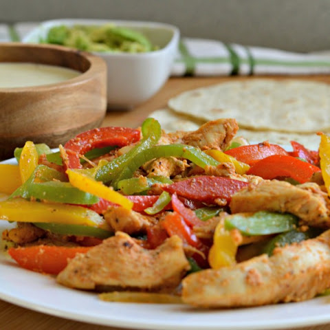 Chicken Fajitas with Creamy Cheese Sauce