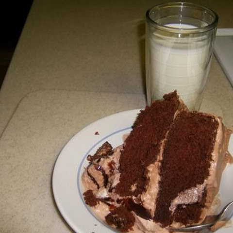 Burning Love Chocolate Cream Cake