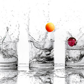Ball Splash by Mike DeMicco - Abstract Water Drops & Splashes ( water, ball, glasses, splash, bouncy )