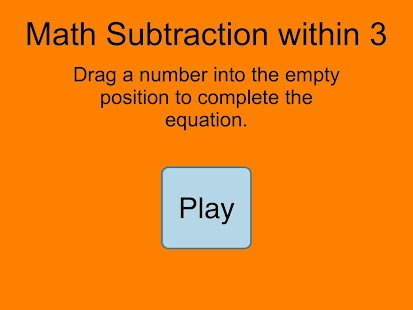 Subtraction Within 3 - screenshot