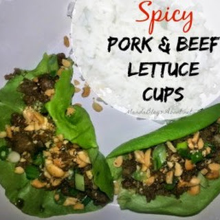 Spicy Thai Pork and Beef Lettuce Cups