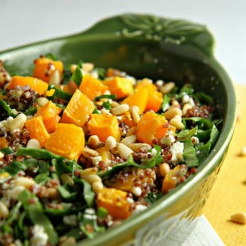 Red Quinoa and Butternut Squash Salad
