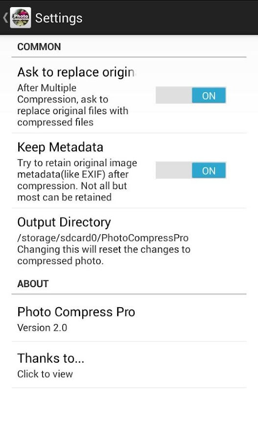 Photo Compress Pro 2.0 Screenshot 4