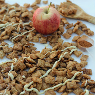 Caramel Apple Chex with White Chocolate Drizzle
