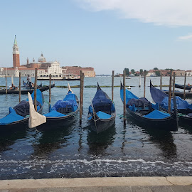 Venice  by Ioana Craciunescu - Transportation Other ( venezia, gondola, italia, blue, lavitaebella )