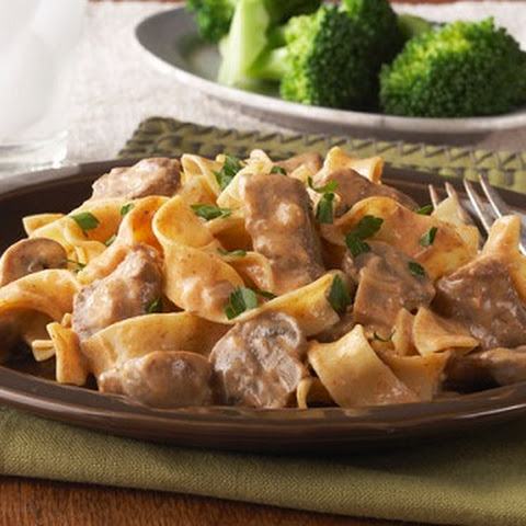 Beef Stroganoff in a Slow-Cooker