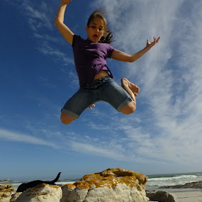 Higher by Domenic Gorin - Babies & Children Children Candids ( cool, speed, beach, high, jump )