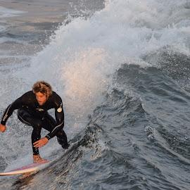 HB Surfer by Jose Matutina - Sports & Fitness Surfing ( water, surfer, guy, orange county, california, sea, sport, ocean, huntington beach, man )