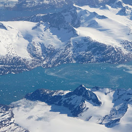 Greenland from above by Kathy Kehl - Landscapes Mountains & Hills