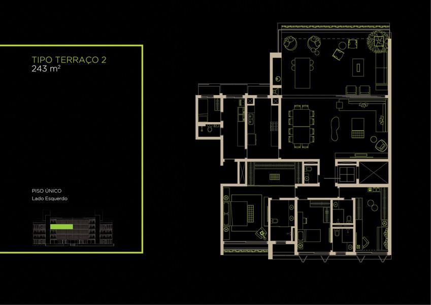 Apto Tipo (32A) - 243 m²