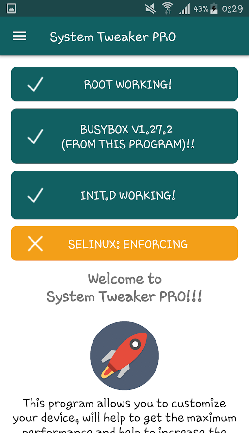 System Tweaker PRO [root] Screenshot 2