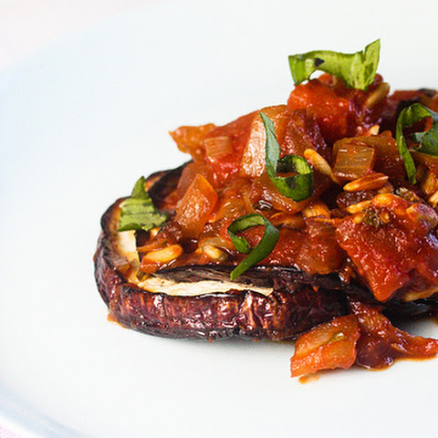 Healthy and Easy Baked Eggplant with Tomato Chutney