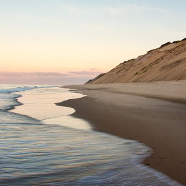 Majesty by Karen Regan - Landscapes Beaches ( sand, dunes, cliffs, dune, cliff, sea, ocean, seascape, beach, landscape, truro, photo, print, cape cod, sky, color, sunset )