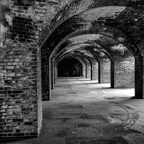 Bricks by Jeanne Knoch - Black & White Buildings & Architecture ( , abandoned, building )